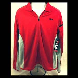 Fila Season ZIP Up Red & Gray Jacket Size medium